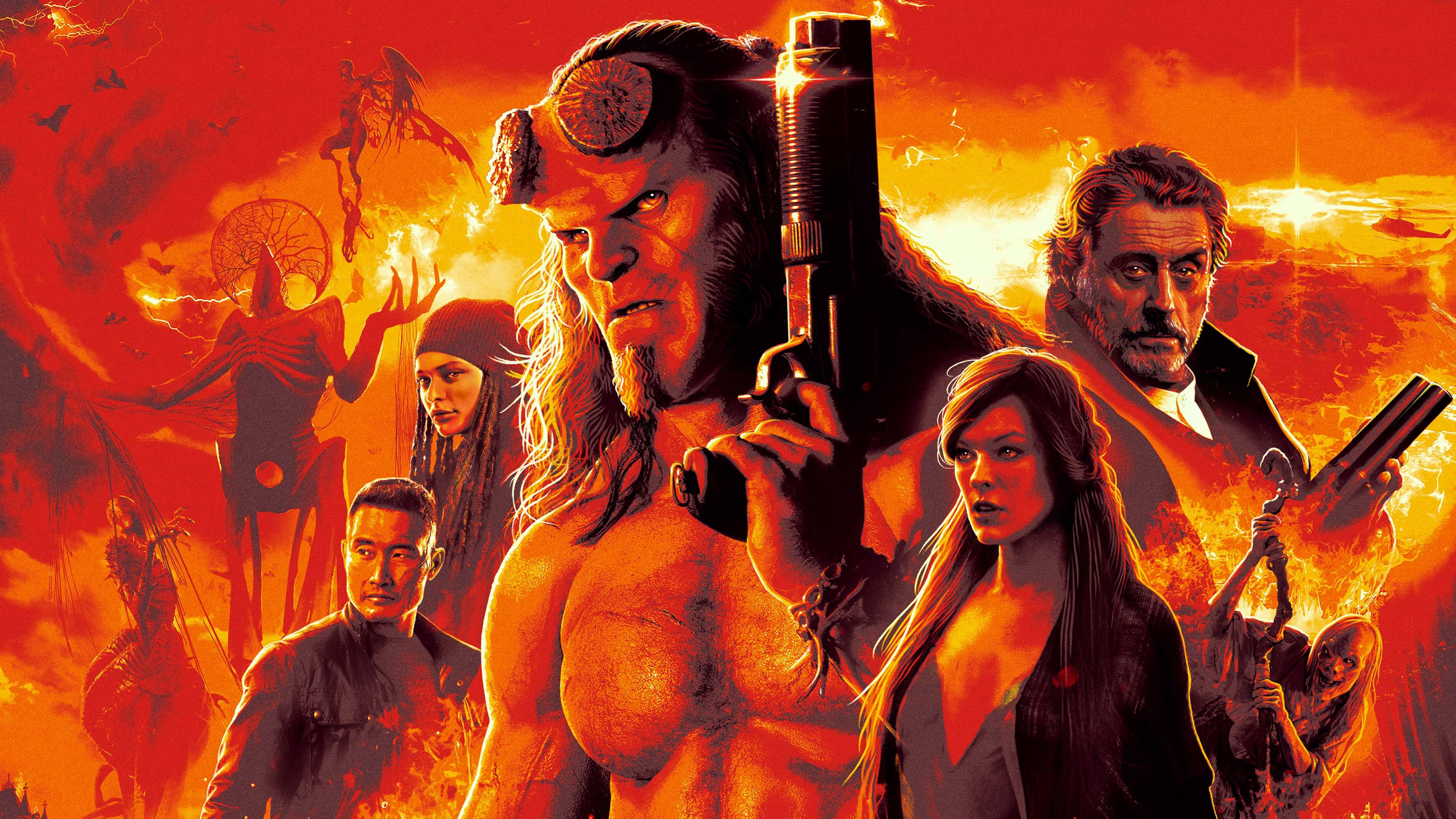 Movie Poster 2019: Hellboy (2019) Movie Poster 4k Ultra HD Wallpaper