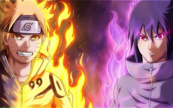 Anime Naruto Uchiha Clan Naruto Uzumaki Sasuke Uchiha Sharingan Kurama HD Wallpaper   Background Image