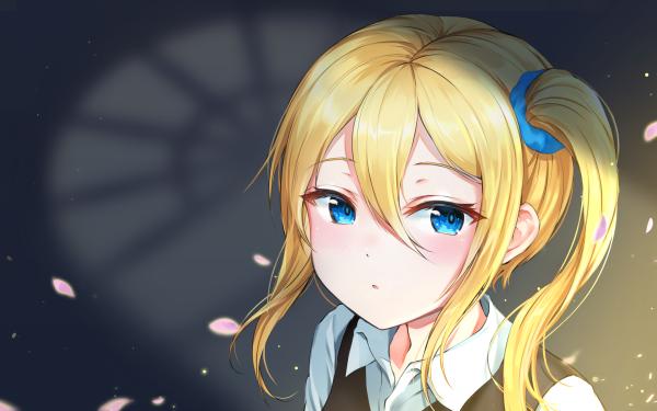 Anime Kaguya-sama: Love is War Ai Hayasaka Blonde Blue Eyes HD Wallpaper | Background Image
