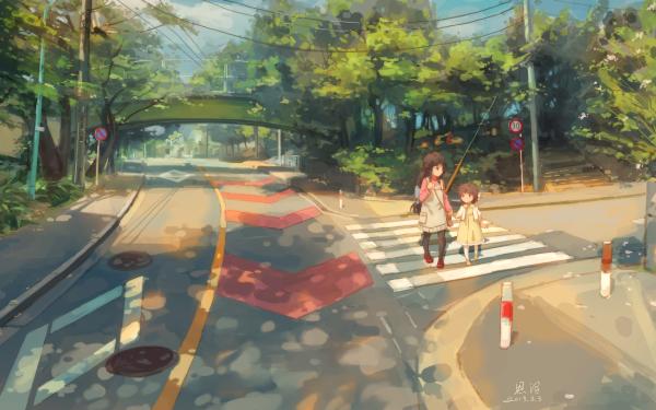 Anime Clannad Road Bridge Fuuko Ibuki Ushio Okazaki HD Wallpaper   Background Image
