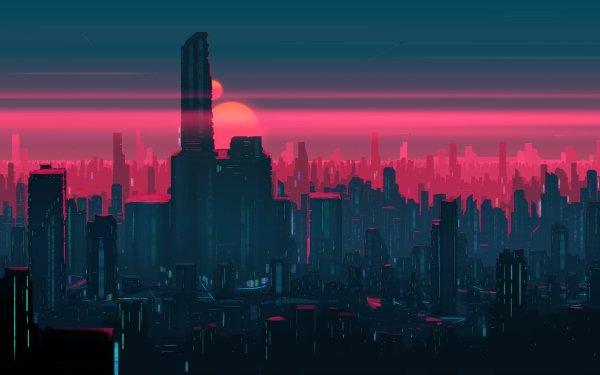 Sci Fi City Cityscape Building Skyscraper Futuristic HD Wallpaper   Background Image