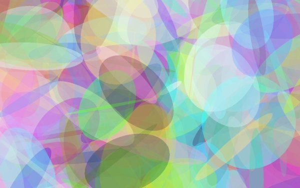 Abstract Geometry Shapes Colorful Circle Oval Pastel HD Wallpaper | Background Image
