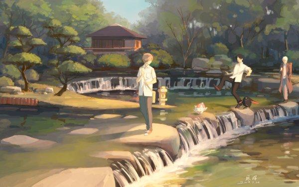 Anime Crossover Takashi Natsume Madara Natsume's Book of Friends xxxHOLiC Kimihiro Watanuki Mushishi Ginko HD Wallpaper   Background Image