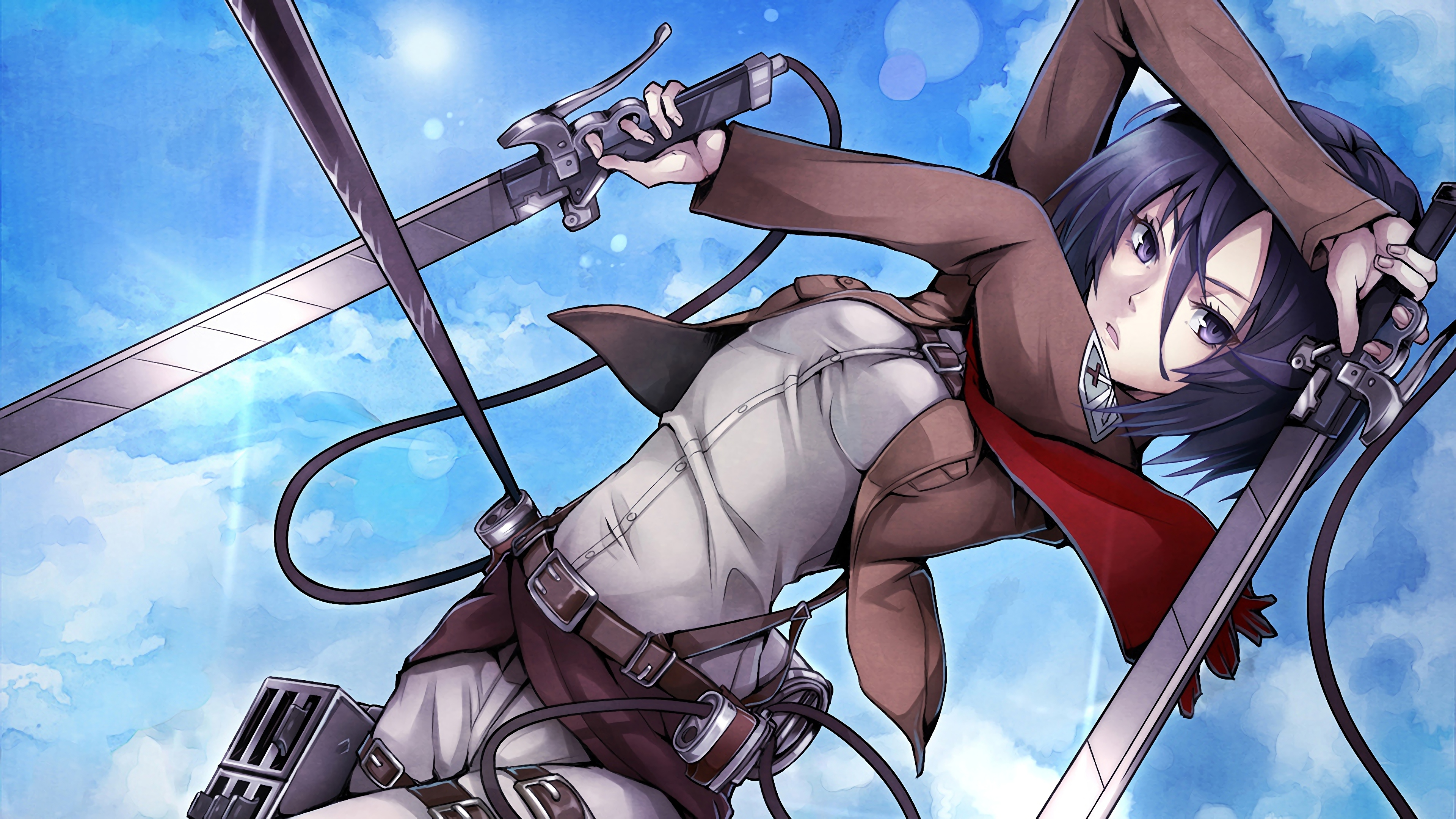 Attack On Titan 4k Ultra Hd Wallpaper Background Image 3840x2160 Id 1016203 Wallpaper Abyss