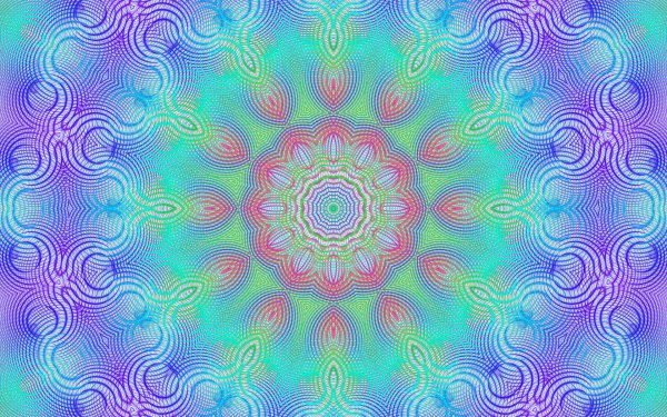 Abstract Fractal Artistic Digital Art Colors Kaleidoscope Pattern Optical Gradient Optical Illusion Generative HD Wallpaper | Background Image