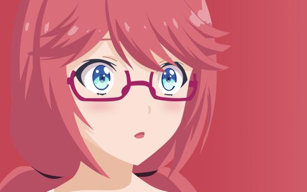 Anime Classroom of the Elite Airi Sakura Pink Hair Glasses HD Wallpaper | Background Image