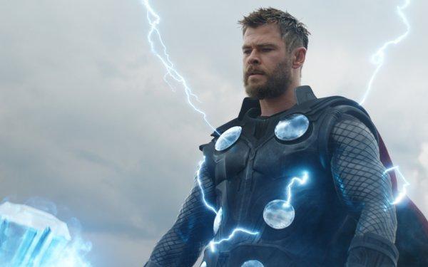 Movie Avengers Endgame The Avengers Thor Armor Beard Chris Hemsworth Marvel Comics Lightning HD Wallpaper   Background Image