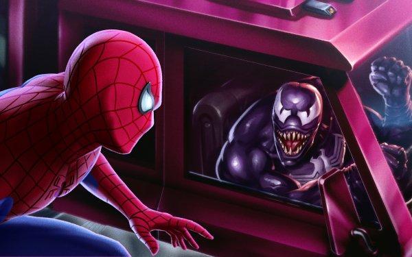 Comics Spider-Man Marvel Comics Veneno Eddie Brock Peter Parker Fondo de pantalla HD | Fondo de Escritorio