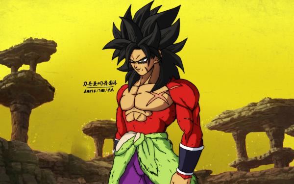 Anime Dragon Ball GT Dragon Ball Broly Super Saiyan 4 HD Wallpaper | Background Image