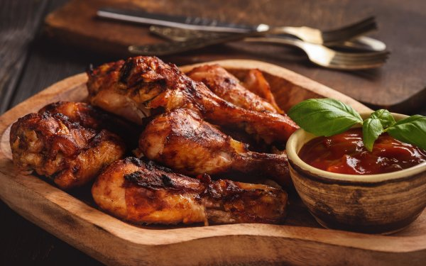 Food Chicken Ketchup Meat HD Wallpaper | Background Image