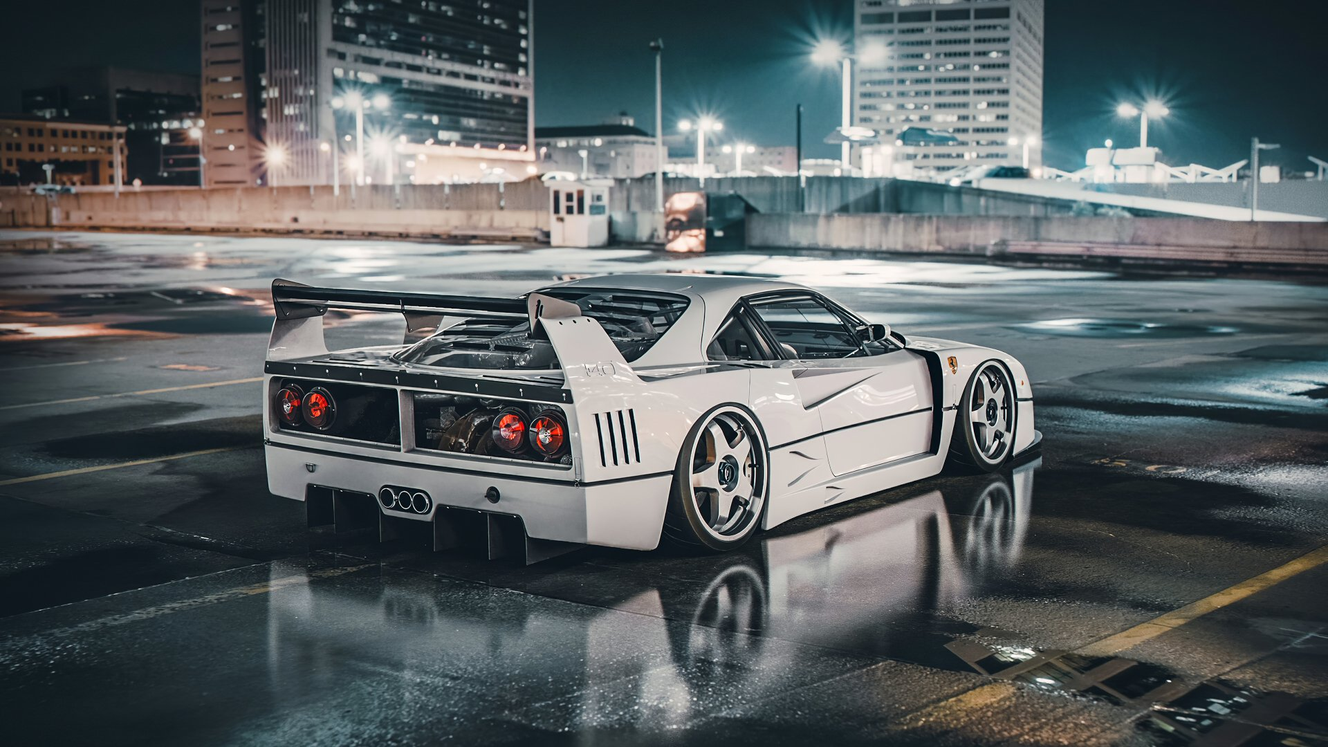 4 Ferrari F40 Lm Hd Wallpapers Background Images Wallpaper Abyss