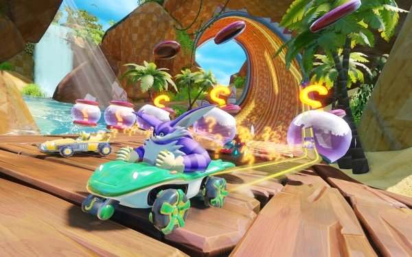 """Video Game Team Sonic Racing Big the Cat Miles """"Tails"""" Prower Zavok HD Wallpaper 