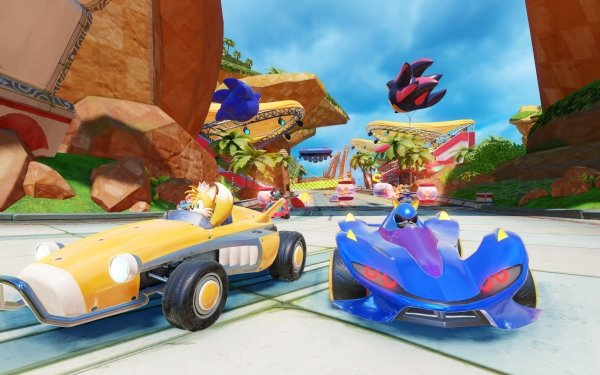 """Video Game Team Sonic Racing Miles """"Tails"""" Prower Metal Sonic Zavok Big the Cat HD Wallpaper 