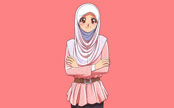 Anime Original Hijab HD Wallpaper   Background Image