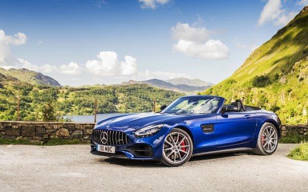 Vehicles Mercedes-Benz AMG GT Mercedes-Benz Mercedes-Benz AMG Car Blue Car Sport Car Cabriolet HD Wallpaper | Background Image