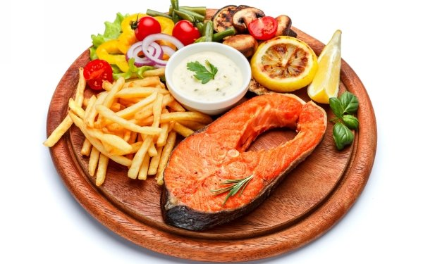 Food Meal Fish Vegetable French Fries Seafood HD Wallpaper | Background Image