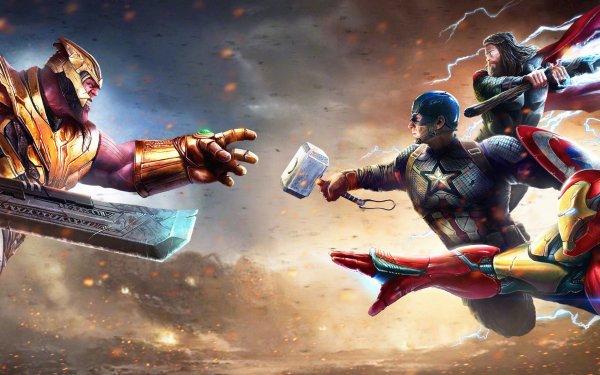 Movie Avengers Endgame The Avengers Thanos Captain America Iron Man Thor Marvel Comics HD Wallpaper   Background Image