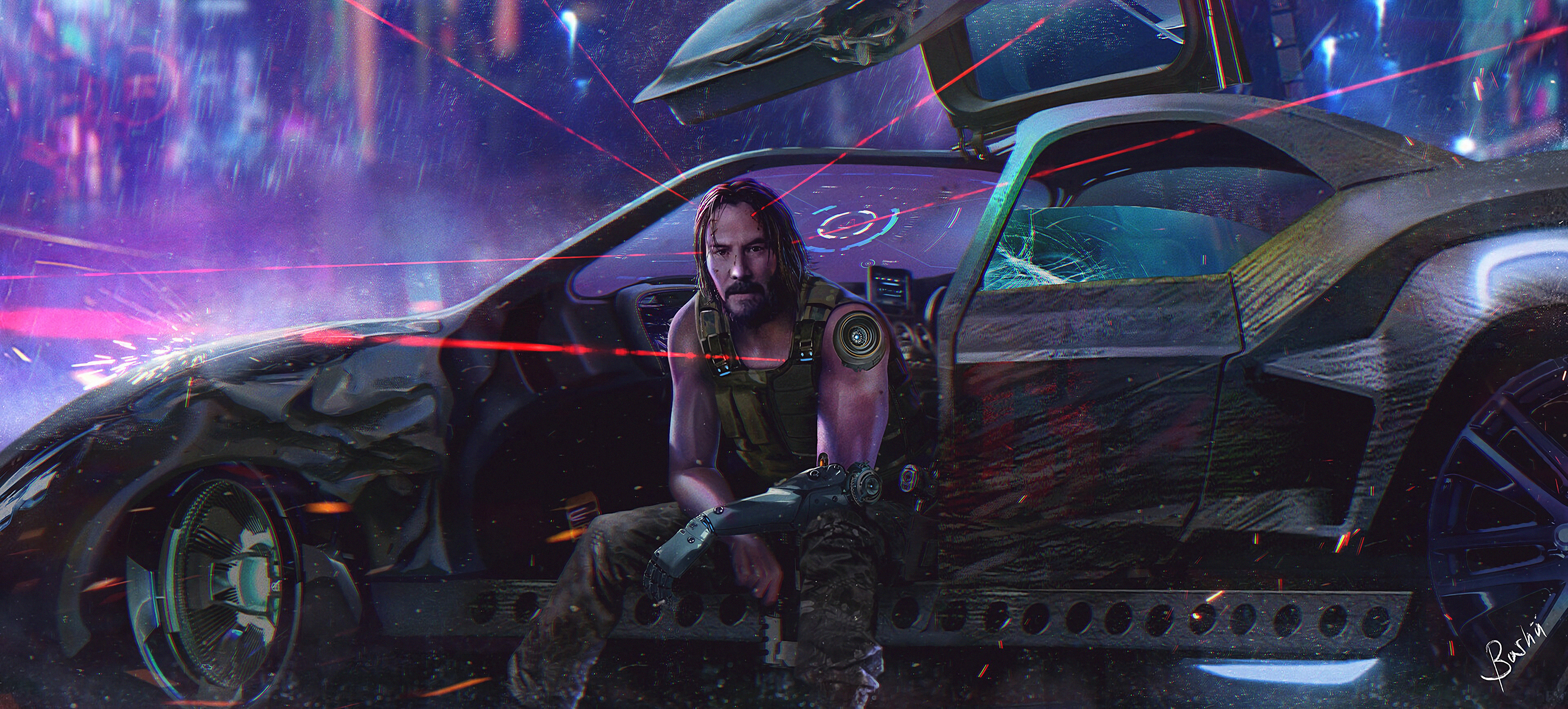 Cyberpunk 2077 HD Wallpaper | Background Image | 3840x1738 ...