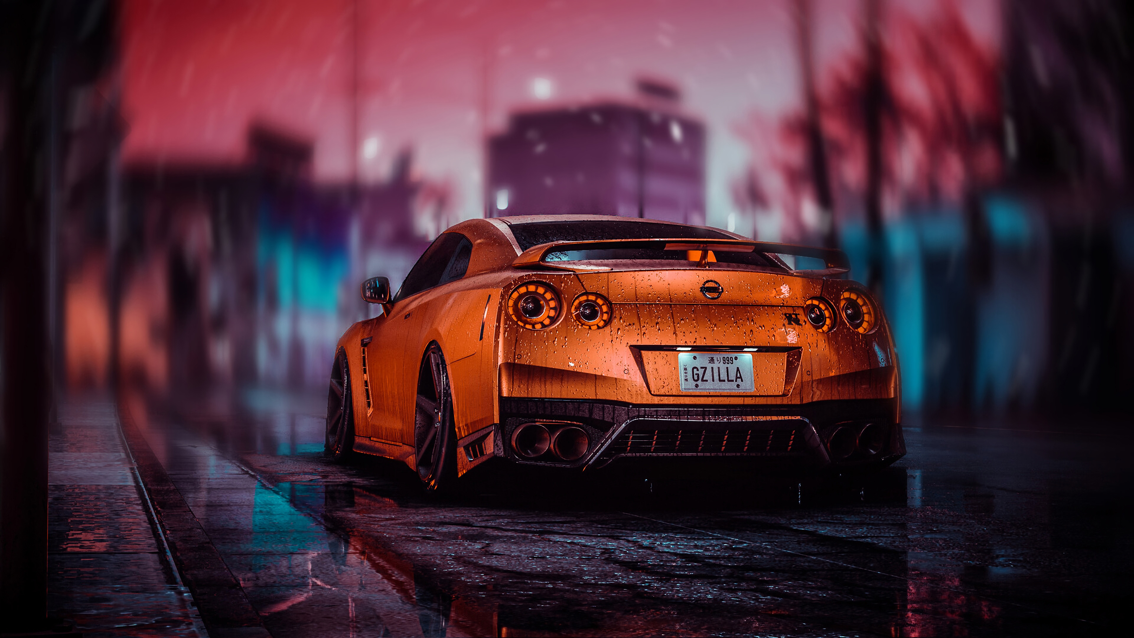 Nissan GT-R 4k Ultra Fondo de pantalla
