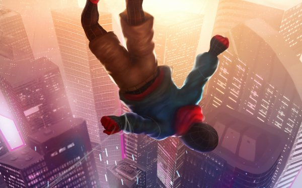 Movie Spider-Man: Into The Spider-Verse Spider-Man Spider-Man: Homecoming Miles Morales HD Wallpaper   Background Image