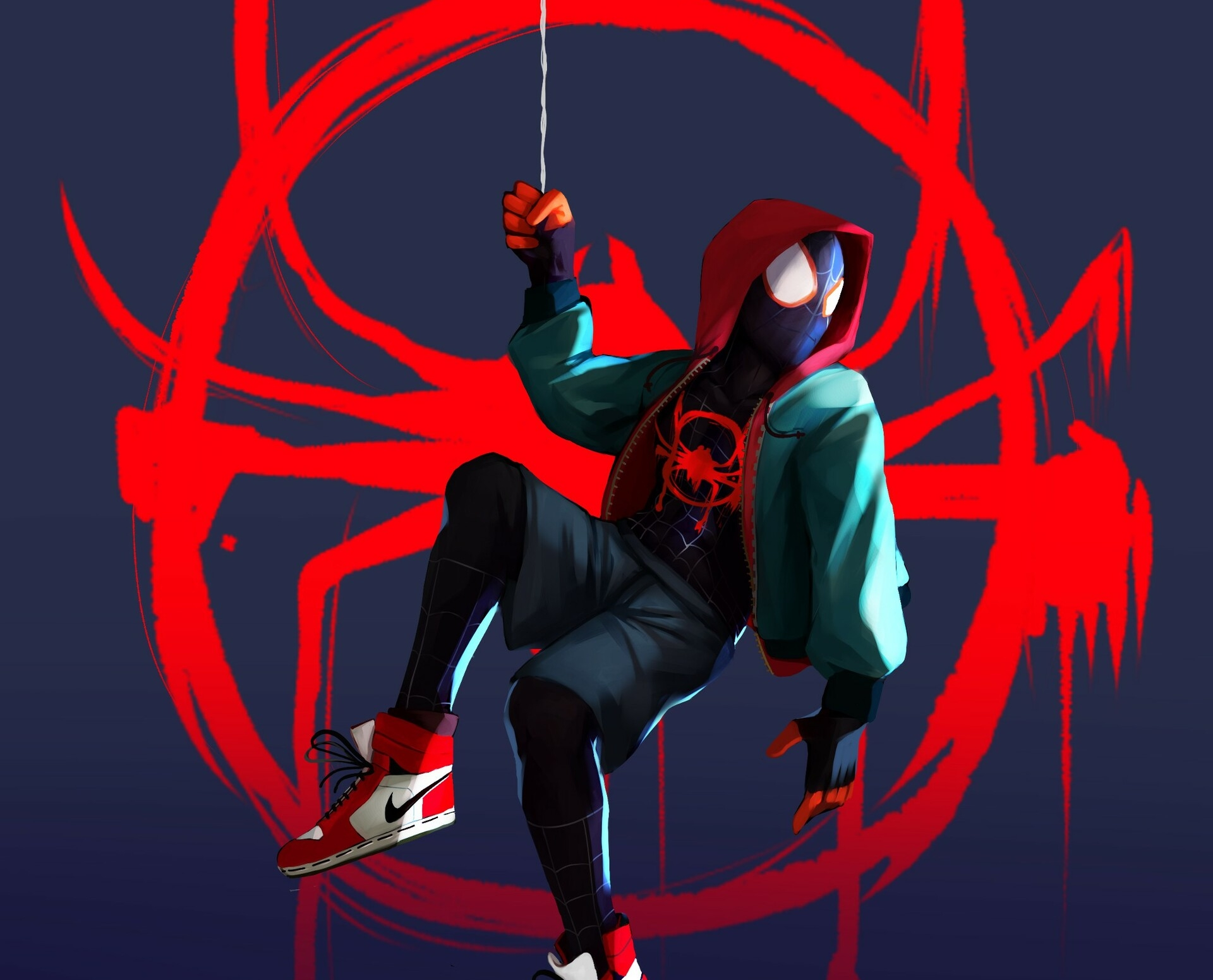 Spider Man Into The Spider Verse Hd Wallpaper Background Image