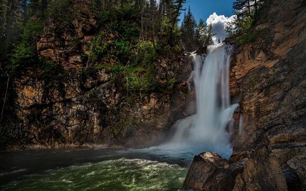 Earth Waterfall Waterfalls River Rock Montana Glacier National Park HD Wallpaper   Background Image