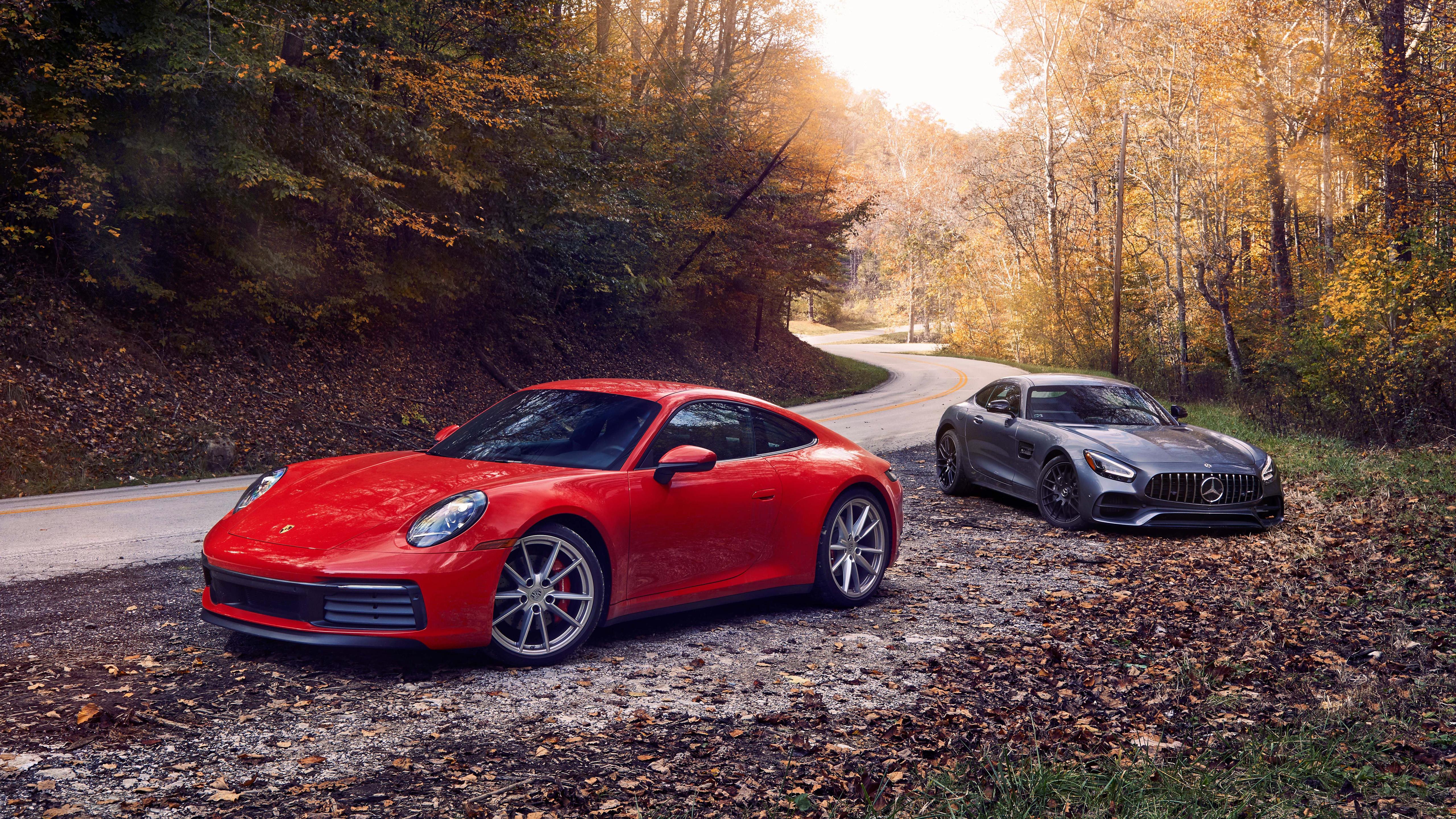 2020 Mercedes Amg Gt 2020 Porsche 911 Carrera S 5k Retina Ultra Hd Wallpaper Background Image 5120x2880 Id 1059453 Wallpaper Abyss