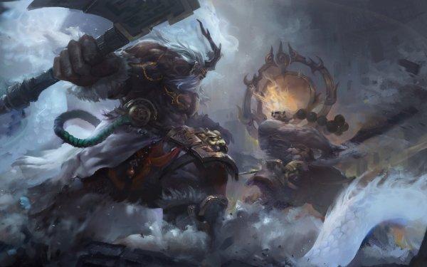 Fantasy Battle Warrior HD Wallpaper | Background Image