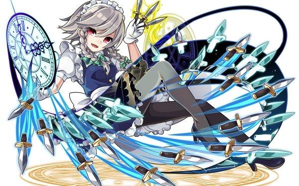 Anime Touhou Sakuya Izayoi HD Wallpaper   Background Image