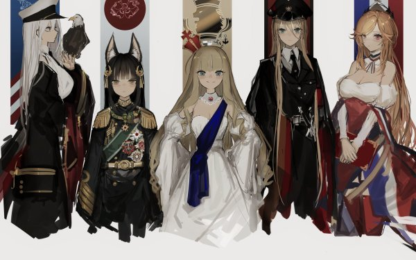 Anime Azur Lane Richelieu Enterprise Nagato Queen Elizabeth Bismarck HD Wallpaper | Background Image