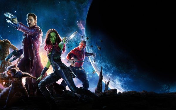 Películas Guardianes de la Galaxia Peter Quill Chris Pratt Zoe Saldana Gamora Rocket Raccoon Groot Dave Bautista Drax The Destroyer Star Lord Fondo de pantalla HD | Fondo de Escritorio