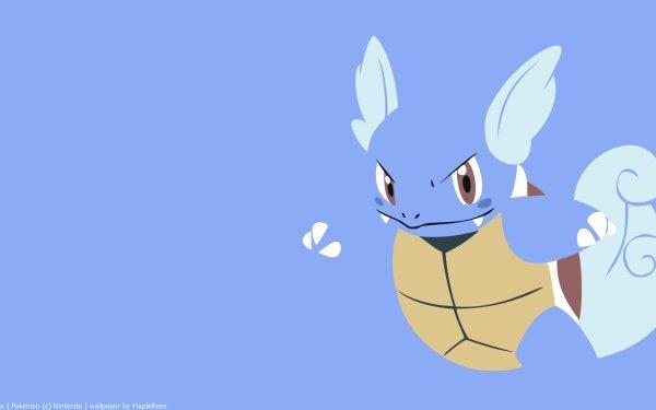 Anime Pokémon Wartortle Minimalist HD Wallpaper | Background Image