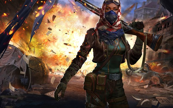 Video Game Homefront: The Revolution Post Apocalyptic Rifle Woman Warrior Explosion HD Wallpaper   Background Image