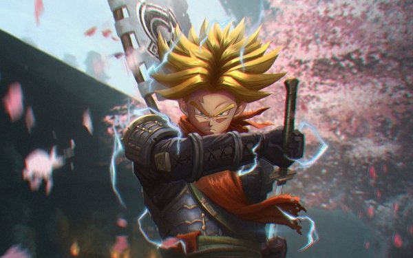 Anime Dragon Ball Samurai Trunks Super Saiyan HD Wallpaper | Background Image