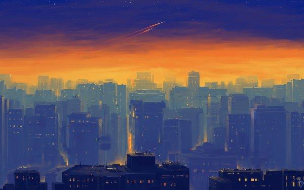Sci Fi City Cityscape Building Skyscraper HD Wallpaper   Background Image