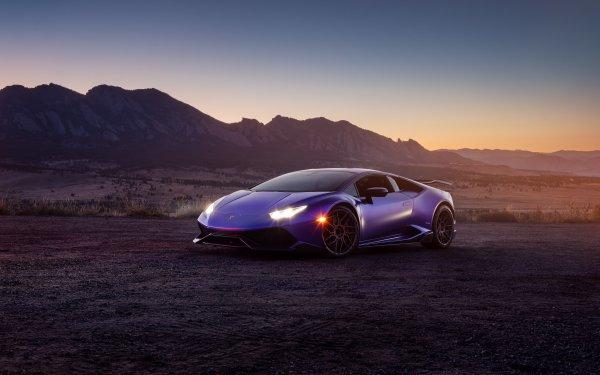 Véhicules Lamborghini Huracán Lamborghini Voiture Sport Car Supercar Purple Car Fond d'écran HD | Image