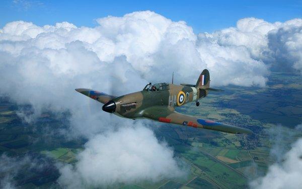 Military Hawker Hurricane Military Aircraft Cloud Aircraft Warplane HD Wallpaper | Background Image