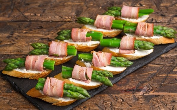 Food Sandwich Asparagus Bacon Snack HD Wallpaper | Background Image