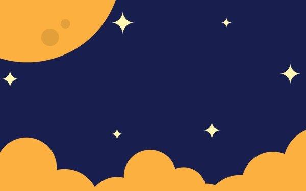 Artistic Sky Cloud Moon Minimalist HD Wallpaper   Background Image