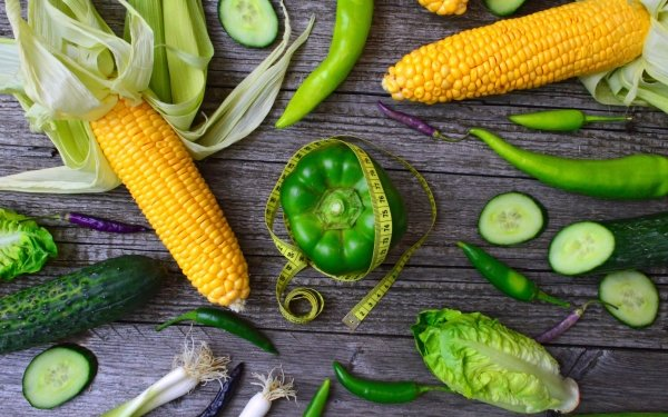 Food Vegetables Onion Cabbage Corn Cucumber Vegetable Pepper HD Wallpaper | Background Image