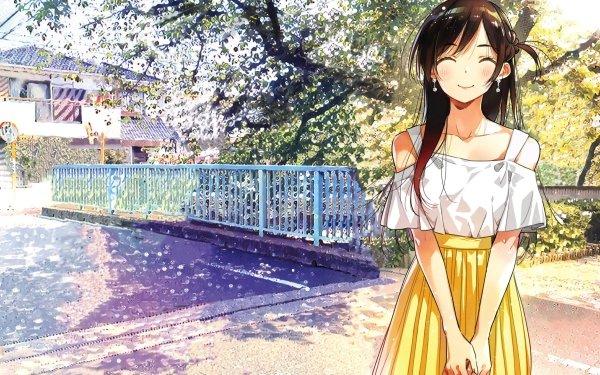 Anime Rent-A-Girlfriend Kanojo Okarishimasu Chizuru Ichinose Long Hair Brown Hair HD Wallpaper | Background Image