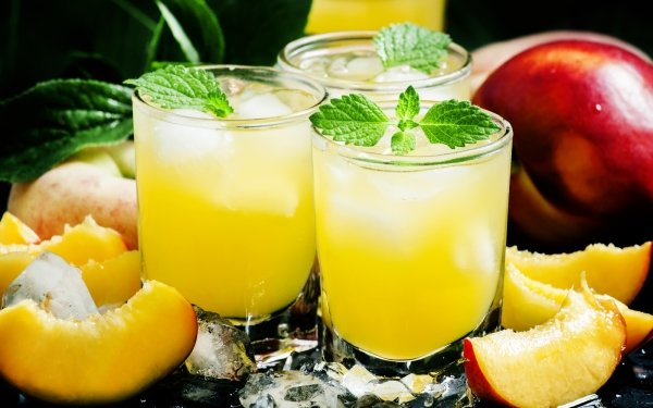 Food Cocktail Glass Drink Nectarine HD Wallpaper   Background Image