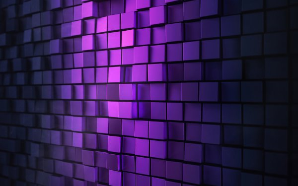Abstract Purple Pattern Cube HD Wallpaper | Background Image
