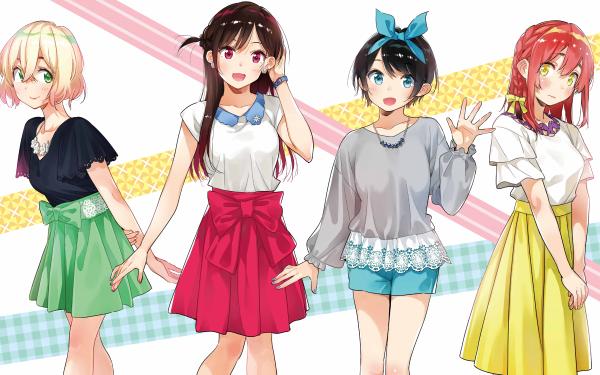 Anime Rent-A-Girlfriend Kanojo Okarishimasu Mami Nanami Ruka Sarashina Sumi Sakurasawa Chizuru Ichinose HD Wallpaper | Background Image
