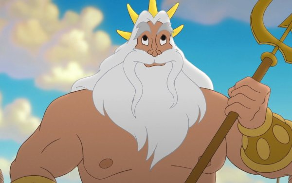 Movie The Little Mermaid II: Return to the Sea The Little Mermaid King Triton Merman Trident HD Wallpaper | Background Image