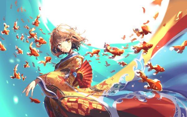 Anime Original Fish HD Wallpaper   Background Image