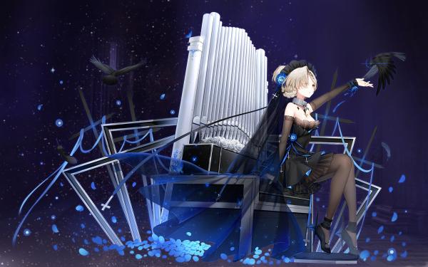 Anime Azur Lane Sheffield Black Dress White Hair HD Wallpaper   Background Image