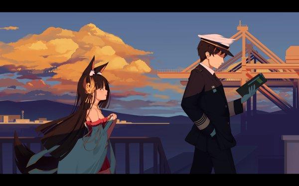 Anime Azur Lane Nagato Commander HD Wallpaper | Background Image