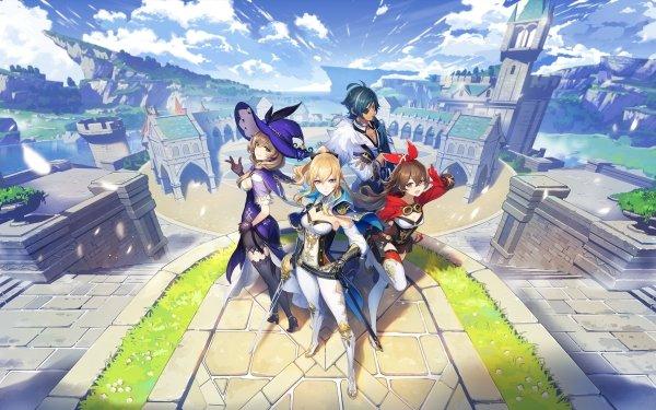 Video Game Genshin Impact Jean Amber Kaeya Lisa HD Wallpaper | Background Image