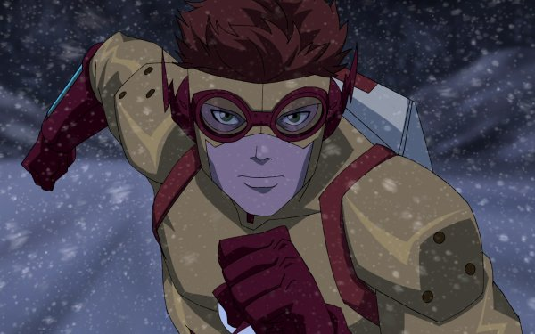 TV Show Young Justice Wally West Kid Flash Red Hair Green Eyes Snow DC Comics Goggles HD Wallpaper   Background Image